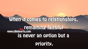 Quotes About Faithful Relationships