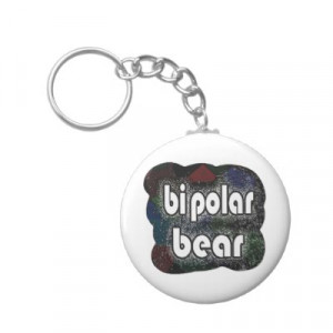 bipolar bear funny sayings by mudge studios key chains from zazzle com