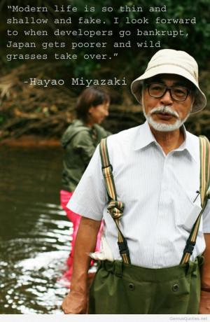 Hayao Miyazaki image asian quotes