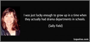 just lucky enough to grow up in a time when they actually had drama ...