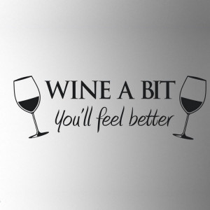 Wine A Bit Vinyl Wall Art Wall Quote Sticker Dinning Kitchen Removable ...