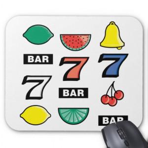 La máquina tragaperras ranura las frutas - juego p tapete de raton
