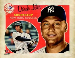 Derek Jeter RETRO SUPERCARD New York Yankees Poster Print ...