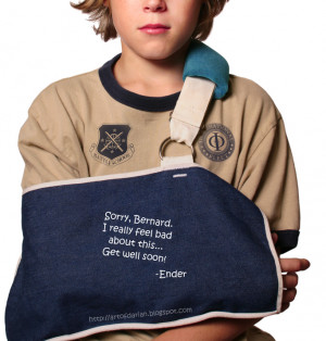 Boy with Broken Arm, signed by Ender Wiggin form Ender's Game
