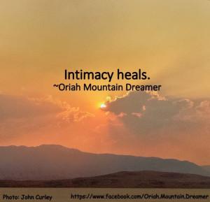 Intimacy heals.