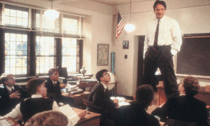 """At one point, Keating stands on his desk and asks his students: """"Why ..."""