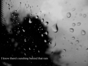 10 best rain quotes, Quote by Bob Marley: Some people feel the rain ...