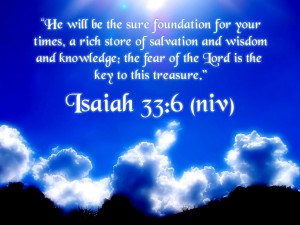 He will be the sure foundation for your
