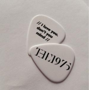 the 1975 guitar pick