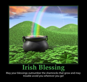 Irish-blessing-pot of gold-Leprechaun-St. Patrick's day
