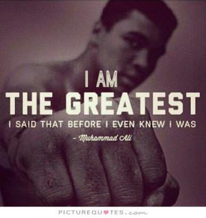 ... Quotes Cocky Quotes Boxing Quotes Confident Quotes Muhammad Ali Quotes