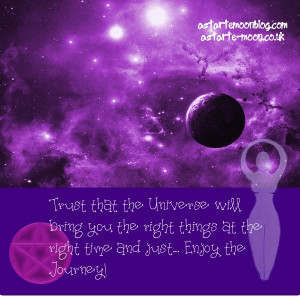 Trust that the universe will bring you the right things at the right ...