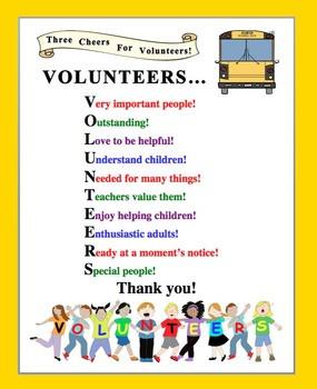 kootation com year volunteer school volunteer thank you poem http ...