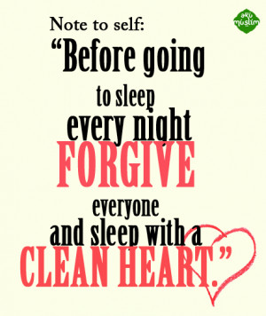 Before going to sleep