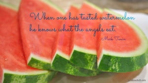 mark twain, quotes, sayings, watermelon, angels, food