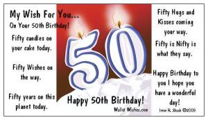 Happy 50th Birthday Funny Wishes Birthdays - wallet wishes