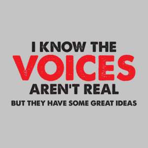 ... VOICES IN MY HEAD AREN'T REAL, BUT THEY HAVE SOME GREAT IDEAS T-SHIRT