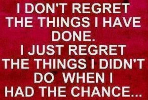 regret sign, pic