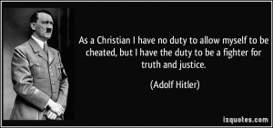 As a Christian I have no duty to allow myself to be cheated, but I ...