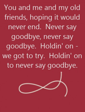 Never Say Goodbye Quotes Bon jovi - never say goodbye