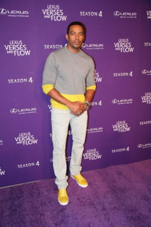 Host Laz Alonso tapes 'Verses and Flow' at Siren Studios in ...