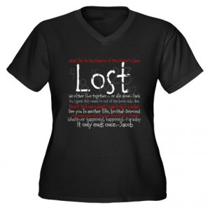 Abc Gifts > Abc Womens > Lost Quotes tee Women's Plus Size V-Neck Dark ...