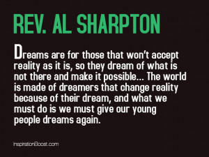 Rev Al Sharpton Dream Quotes