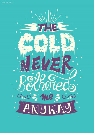 "Beautiful Typography Quote of Disney Movie ""Frozen"""