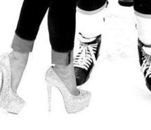 Amazing Cute Hockey Love Shoes