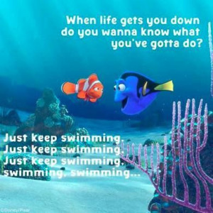 just keep swimming dory in finding nemo quotes dory just keep swimming