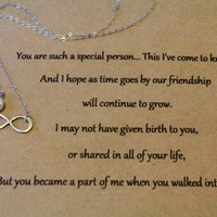 step daughter infinity necklace with posted by handmarked from