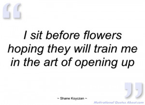 sit before flowers hoping they will shane koyczan