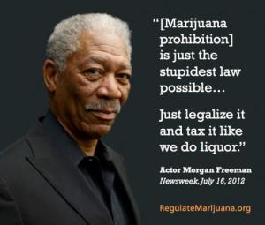 Acclaimed Actor Morgan Freeman Speaks Out on Marijuana Law Reform