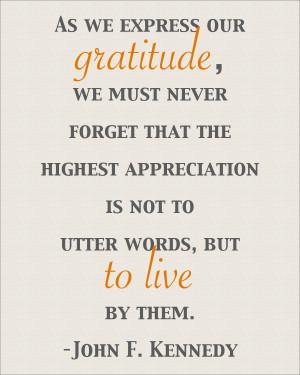 JFK Thanksgiving Quote