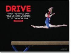 ... gymnast inspir, female gymnastics quotes, drive, quotes gymnastics