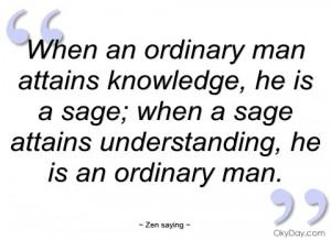 when an ordinary man attains knowledge
