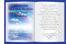 Personalised Brother, Dad, Son, Uncle, Birthday Memorial Card & Holder