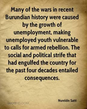 Many of the wars in recent Burundian history were caused by the growth ...