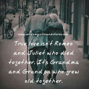 True Love Growing Old Together