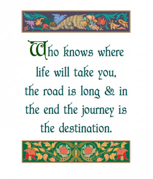 The Journey is the Destination