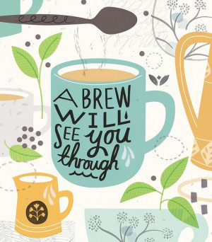 The Brew Will See You Through #coffee #illustration