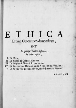 Titelblad Ethica