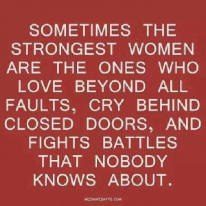 Shout out to all the strong women