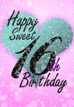Free #Printable Sweet 16 #Birthday Greeting Card