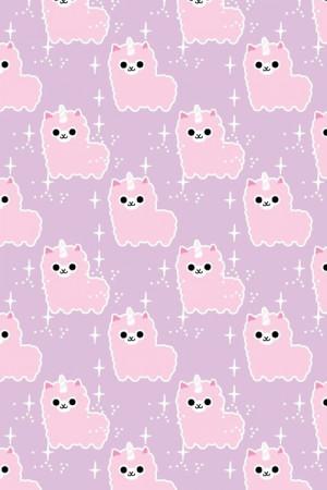 Pastel Kawaii Alpaca Pastel iPhone Wallpaper