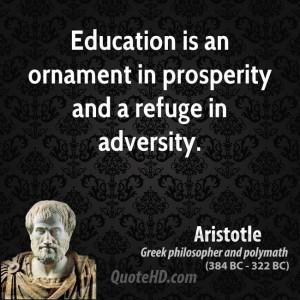 Aristotle Education Quotes