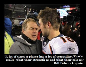"""... Belichick """" It's 'completely untrue' that I hate Tim Tebow"""