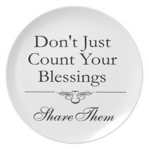 Share Your Blessings Dinner Plates