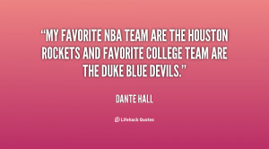 My favorite NBA team are the houston rockets and favorite college team ...