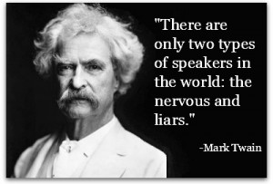 quotes about public speaking mark twain